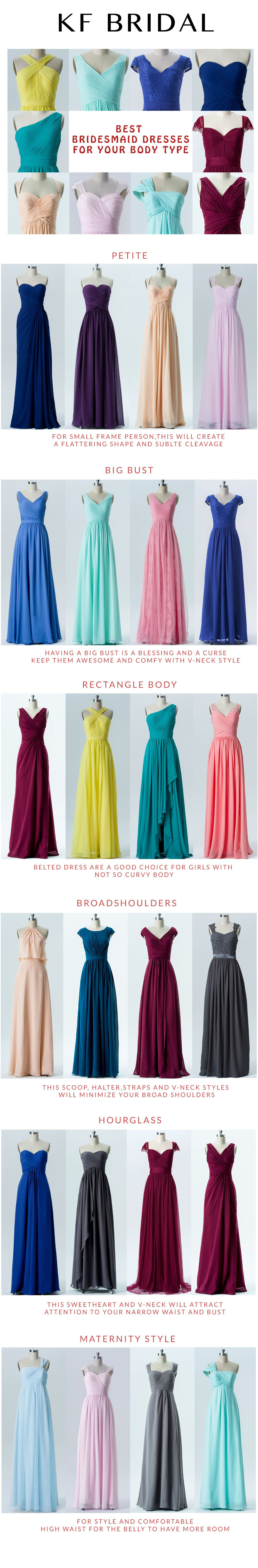 bridesmaid dresses for all shapes and sizes which is your type