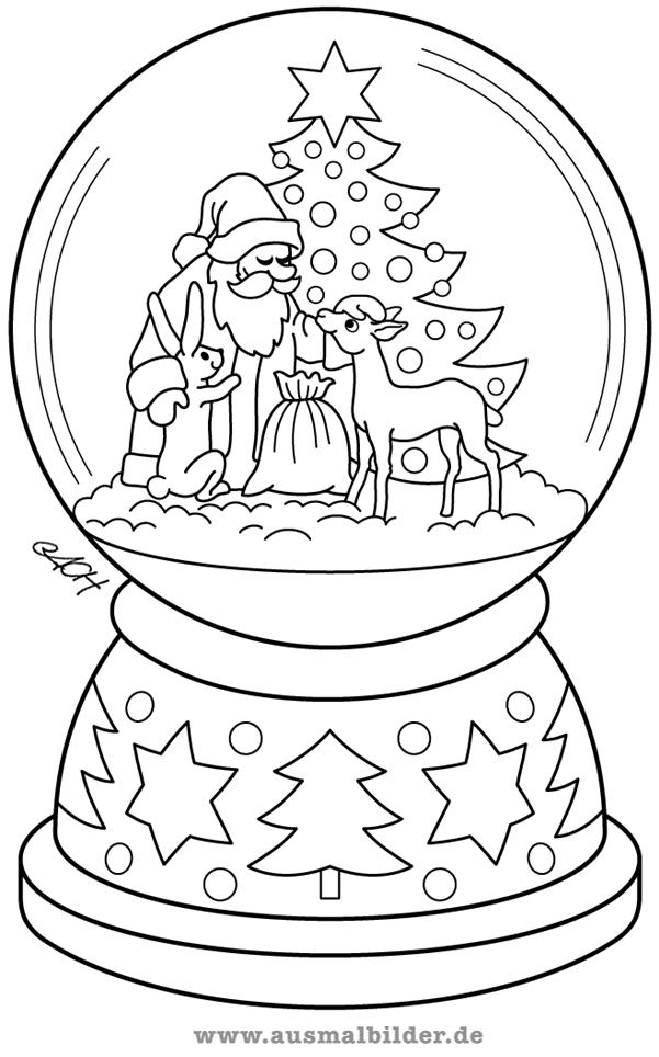 Schneekugel Malvorlagen Schneekugel Free Schneekugel Weihnachten Schneekugel Malvorlagen