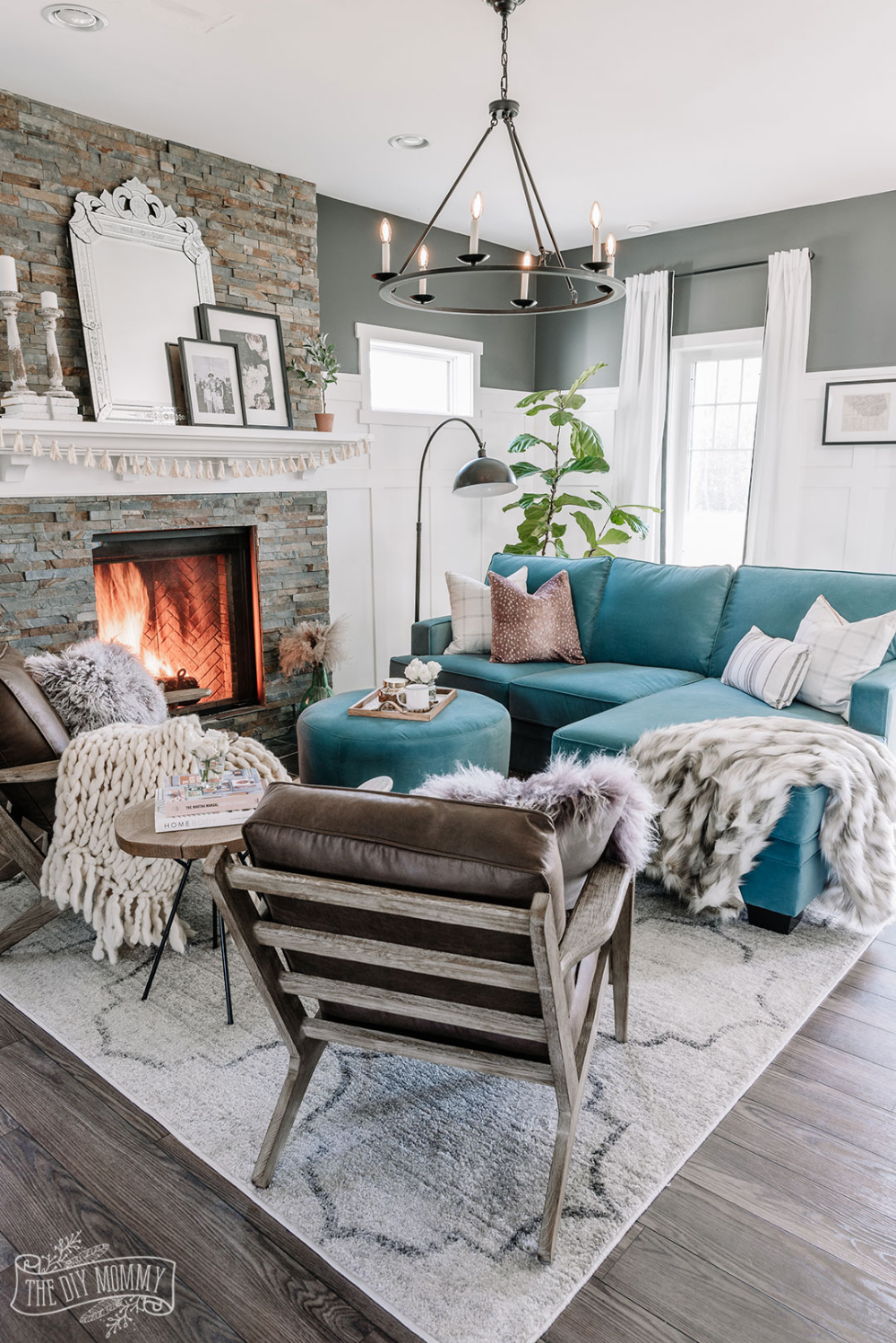 Our Eclectic Living Room Refresh with a Custom Velvet ...