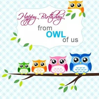 Happy birthday images owls google search dani pinterest funny sayings for birthday cards bookmarktalkfo Image collections