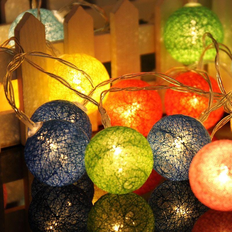 2018 的 mlsaleshop 10 Globes LED Cotton Christmas Ball Light Dry