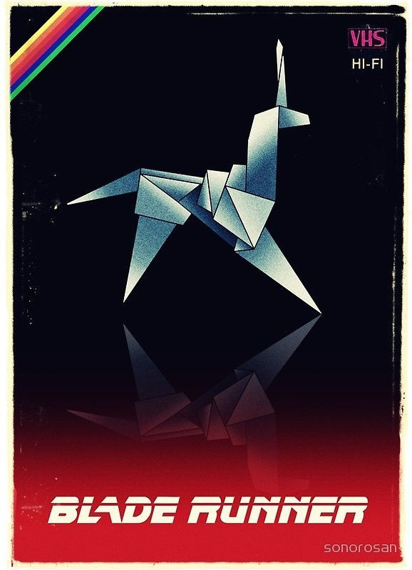 Photo of 'Origami unicorn VHS' Art Board Print by sonorosan