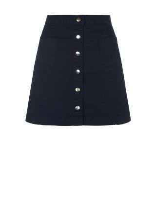 new look Navy Button Front Mini Skirt