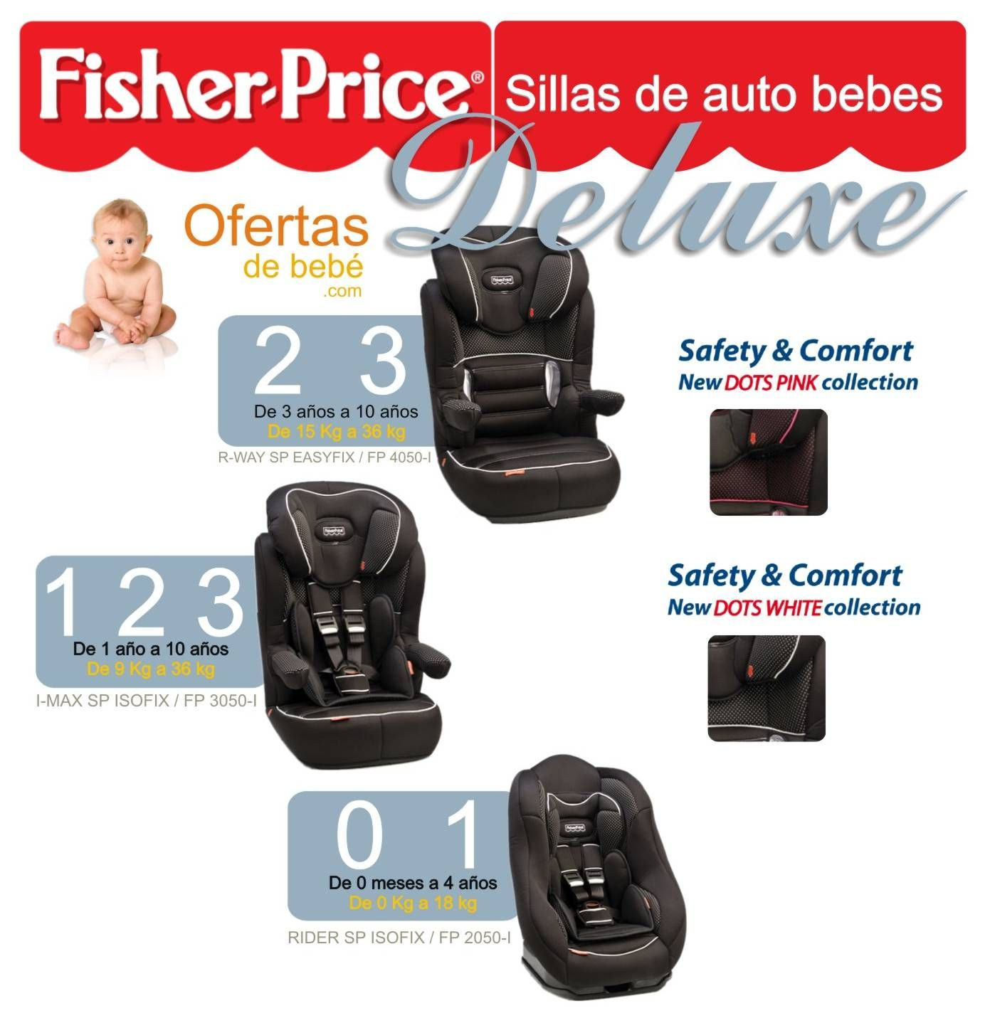 03 FISHER PRICE SILLAS AUTO DELUXE grupo 0 1 2 3 comprar