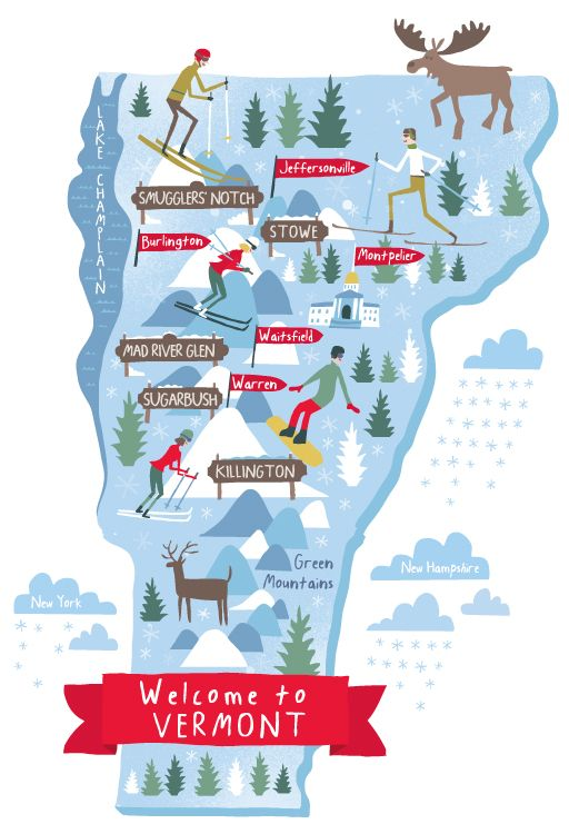 Vermont By Nate Padavick I Need To Visit Vermont Againit Has - Maps of vermont