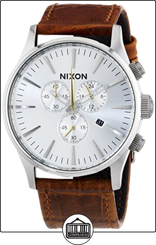 Nixon Sentry Chrono - Reloj de cuarzo , correa de cuero color marrón de  ✿ Relojes para hombre - (Gama media/alta) ✿