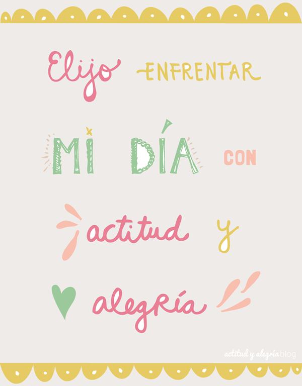Ilustraciones Y Frases Actitud Y Alegría Frases