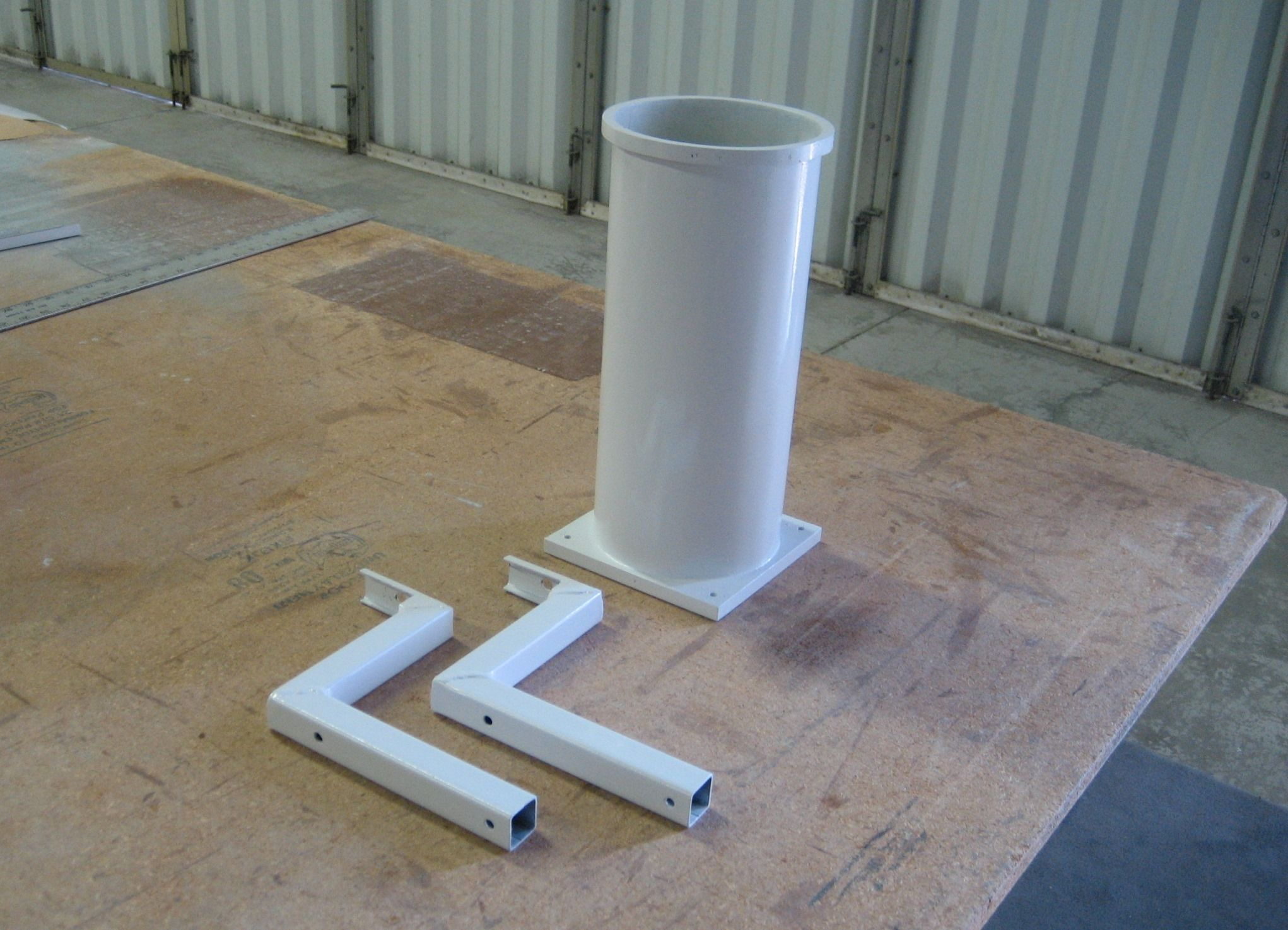 Carbon Rod Can Holder Made from epoxy prepreg panels and