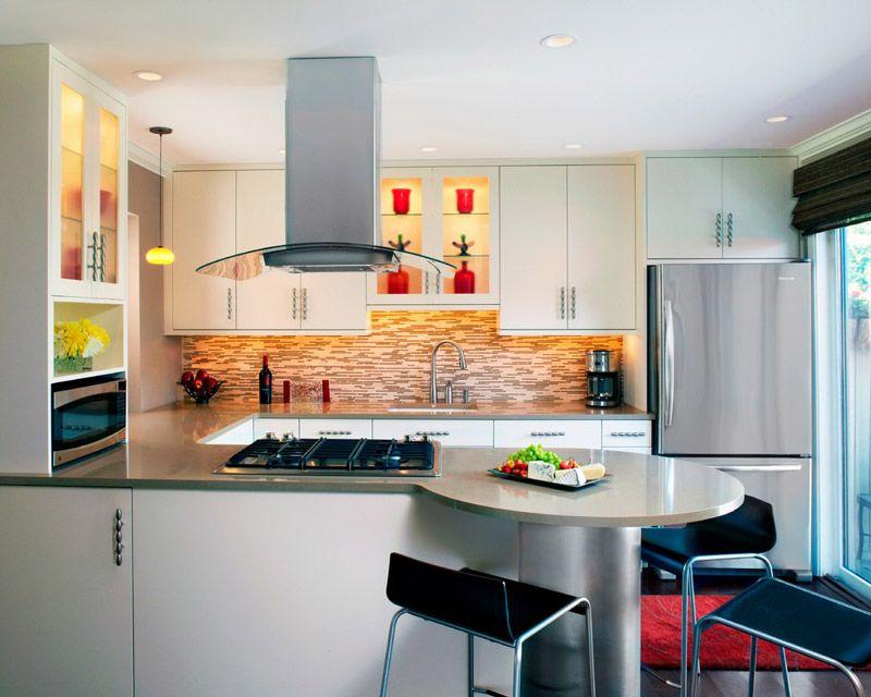 cocinas pequeñas integradas | diseño de interiores | Pinterest ...
