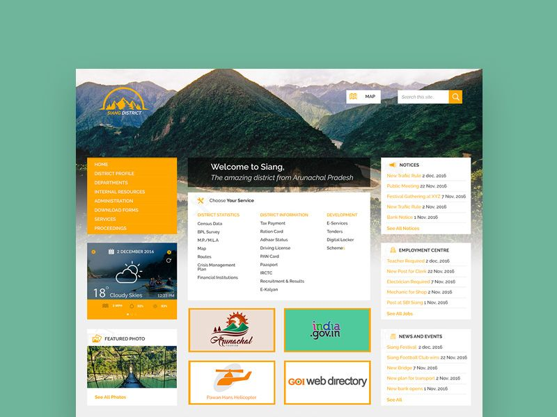 District Administration A Template Concept Design For District Or Municipality Administration Website Concept Design Website Design Municipality