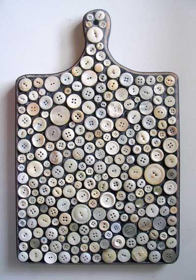 23 Ideas DIY para decorar objetos con botones. | Mil Ideas de Decoración