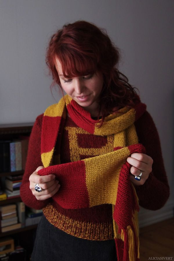 Weasley Sweater And Gryffindor Scarf By Alicia Sivertsson 2012 13