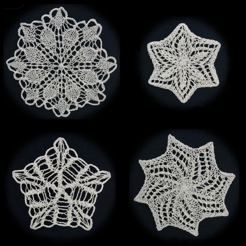 More Knit Snowflakes Pattern Pdf 450 Via Etsy Home Decor