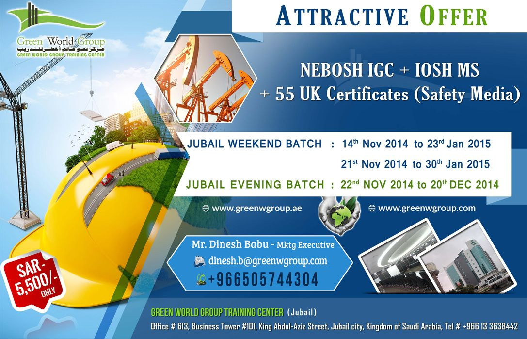 Green World Group Provide Bundle Offer For Nebosh Course In Al