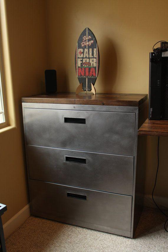 Refinished 3 Drawer Metal Filing Cabinet 30 36 42