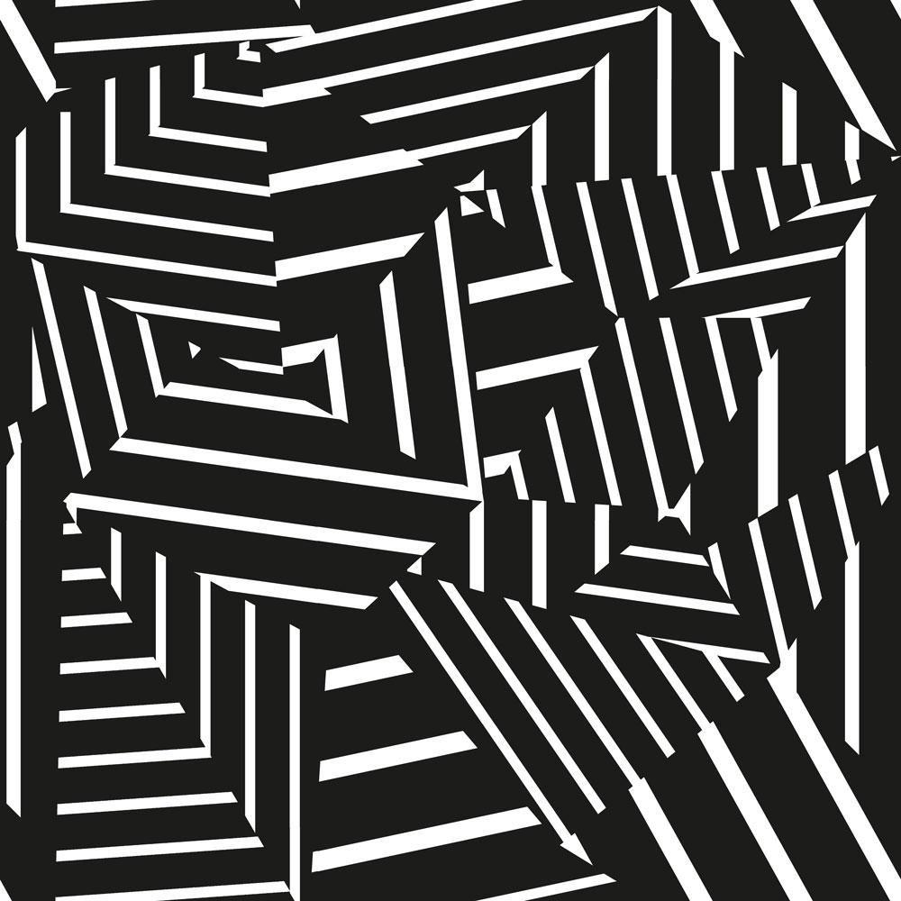 Tempaper Bobby Berk Dazzle Black & White SelfAdhesive