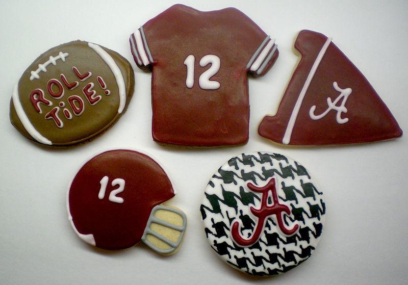 Alabama Crimson Tide football cookies