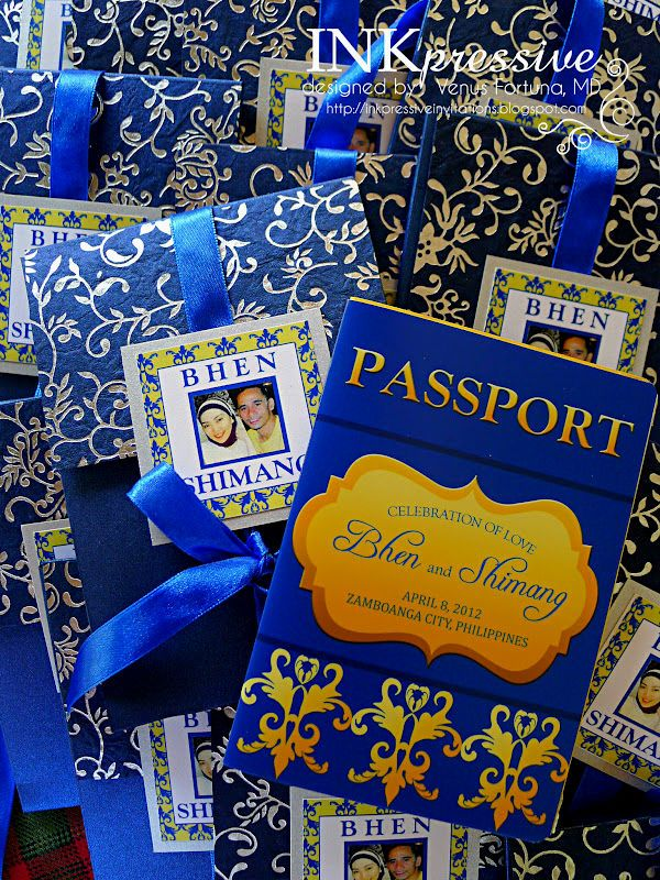 Passport Style Wedding Invitations Philippines Passport