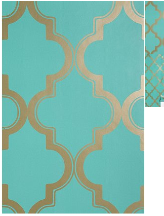 wall paper. fun color with gold. Kinda Moorish.