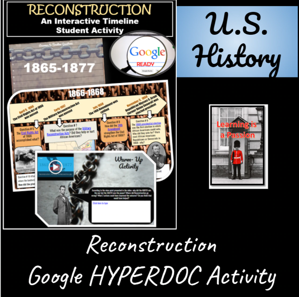 Reconstruction Interactive Timeline Student Activity Distance Learning In 2021 Interactive Timeline Student Activities Distance Learning