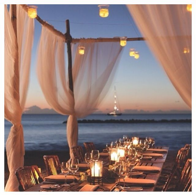 Summer Outdoor Entertaining - dinner party under the stars