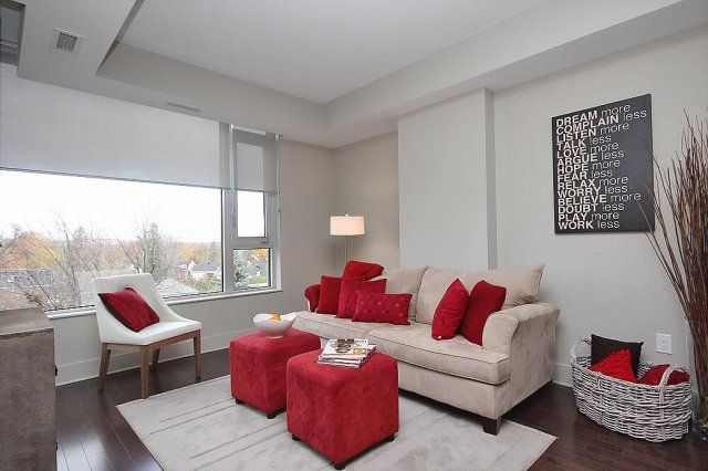 Red makes a big impact Home Staging Projects Pinterest