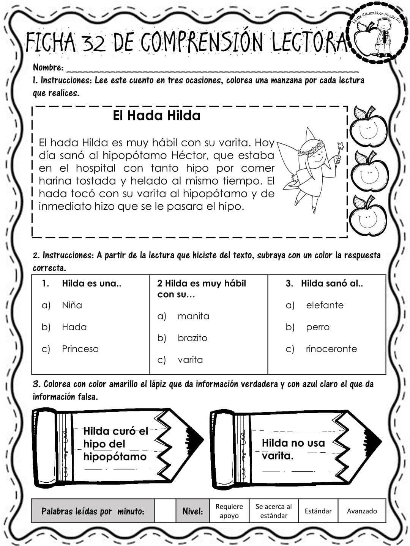 Pin De Ana Arguijo En Pract Del Lenguaje Comprensión Lectora Lectura De Comprensión Lecturas Para Comprension Lectora