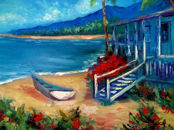 Hawaii Shack   Oil on Canvas