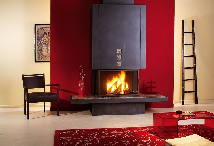 Chimenea minimalista kyoto hogares pinterest - Chimeneas interiores ...