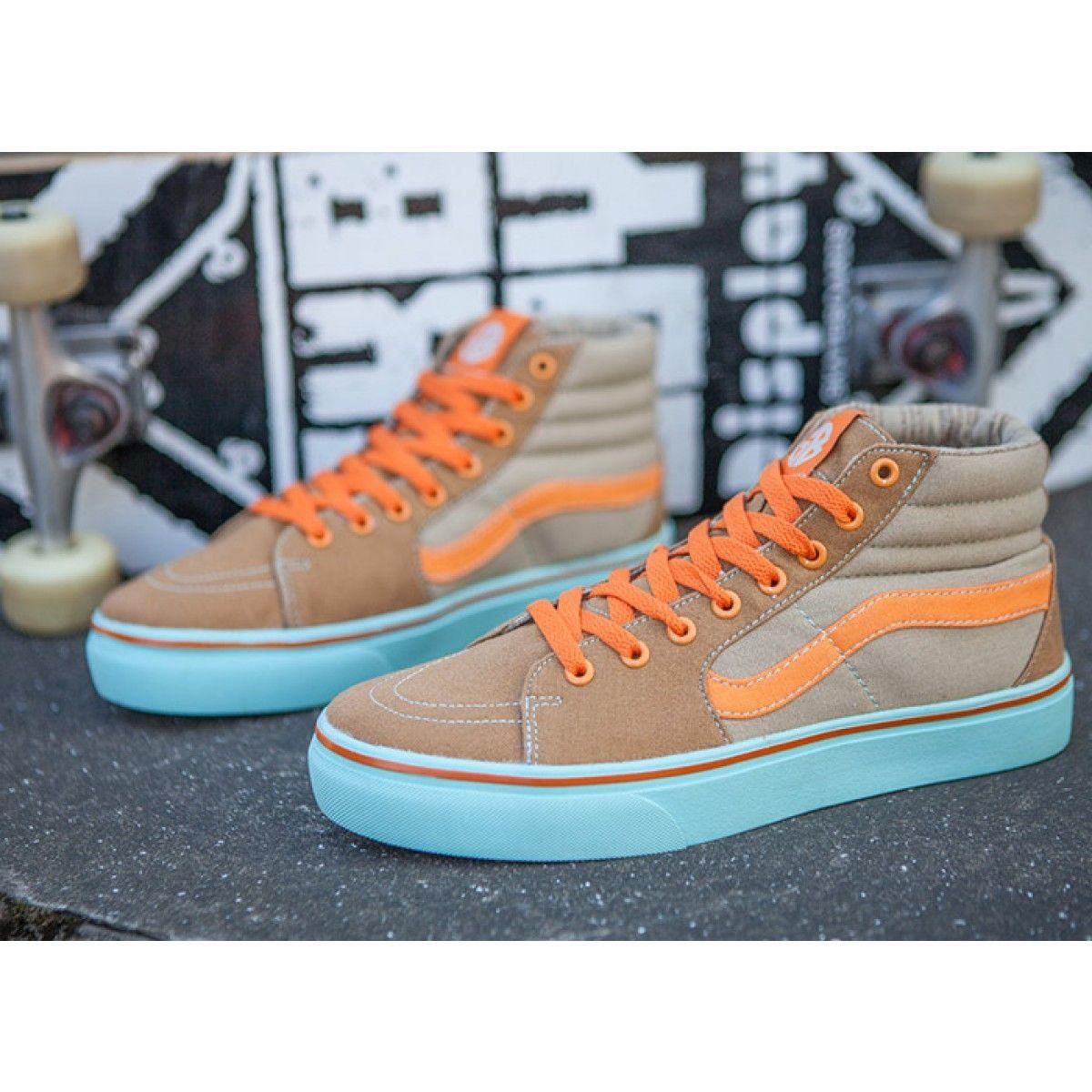 91345cab0f Vans SK8 Hi GB Tawny Orange Skate Shoes  Vans