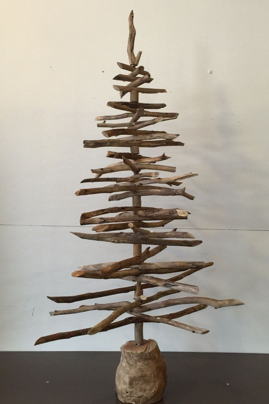Stick Christmas Tree By Palletandwood On Etsy Https Www Etsy Com Au Listing 2 Stick Christmas Tree Christmas Decorations Australian Australian Christmas Tree