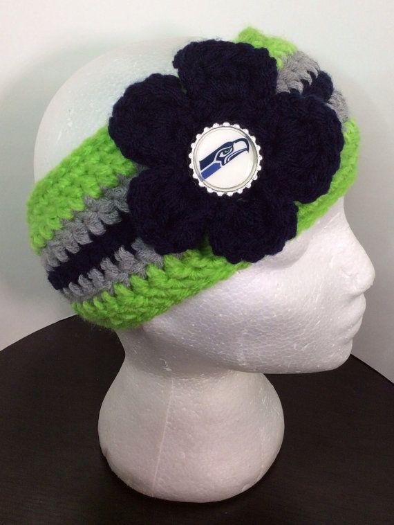 Seattle Seahawks Crochet Headband on Etsy, $18.00 | Crochet ...