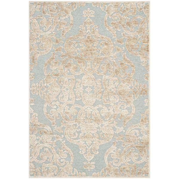 safavieh paradise stone/ aqua viscose rug (5'3 x 7'6) | wrought
