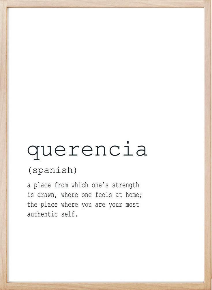 Definition Print Art, Definition Quotes, Home Printable, Large Printable, Querencia Definition, Fami