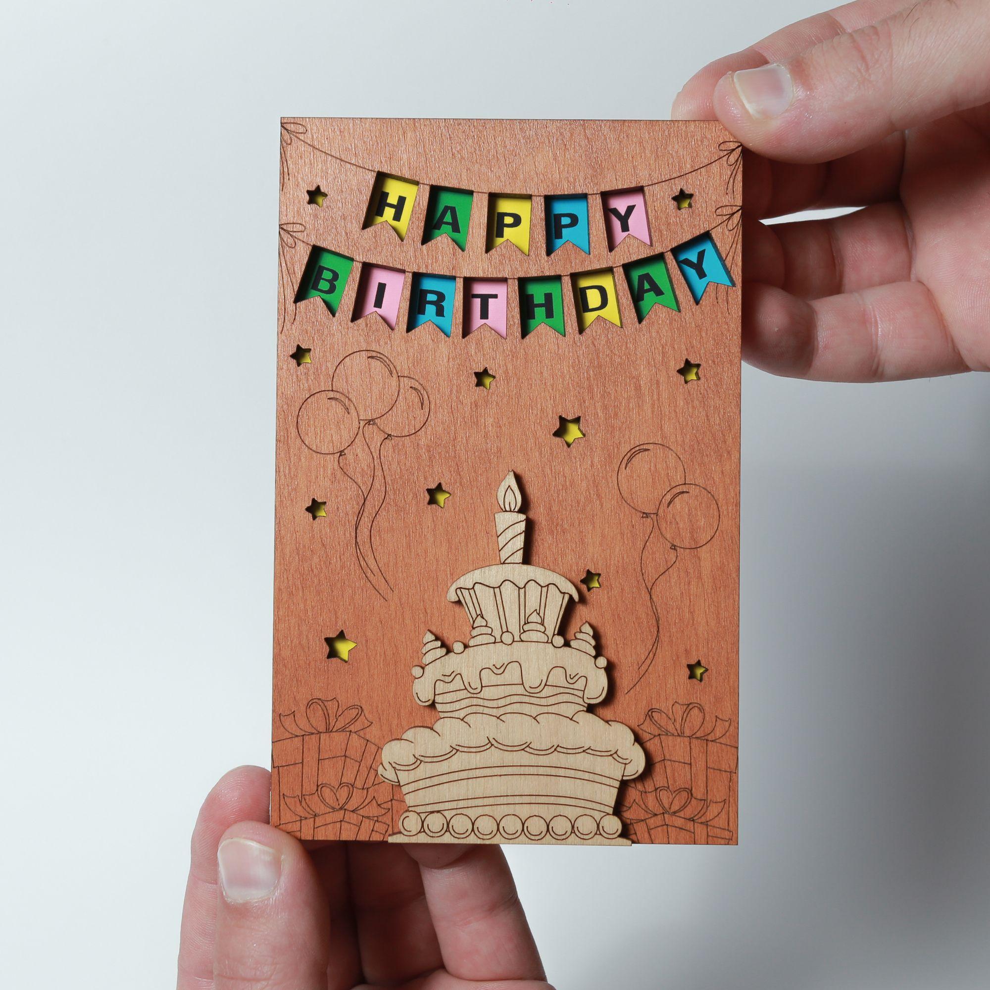 Happy Birthday Card Best Handmade Wooden Gift Cute Birthday Present For Him Boyfriend Husba Birthday Presents For Him Happy Birthday Cards Presents For Him