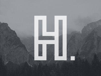 Logo Luke Harrison Lh Personal Logo Letter Logo Design Unique Logo Design