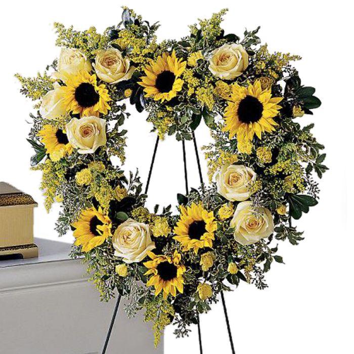 Forever Heart Wreath c2024 Funeral flower arrangements
