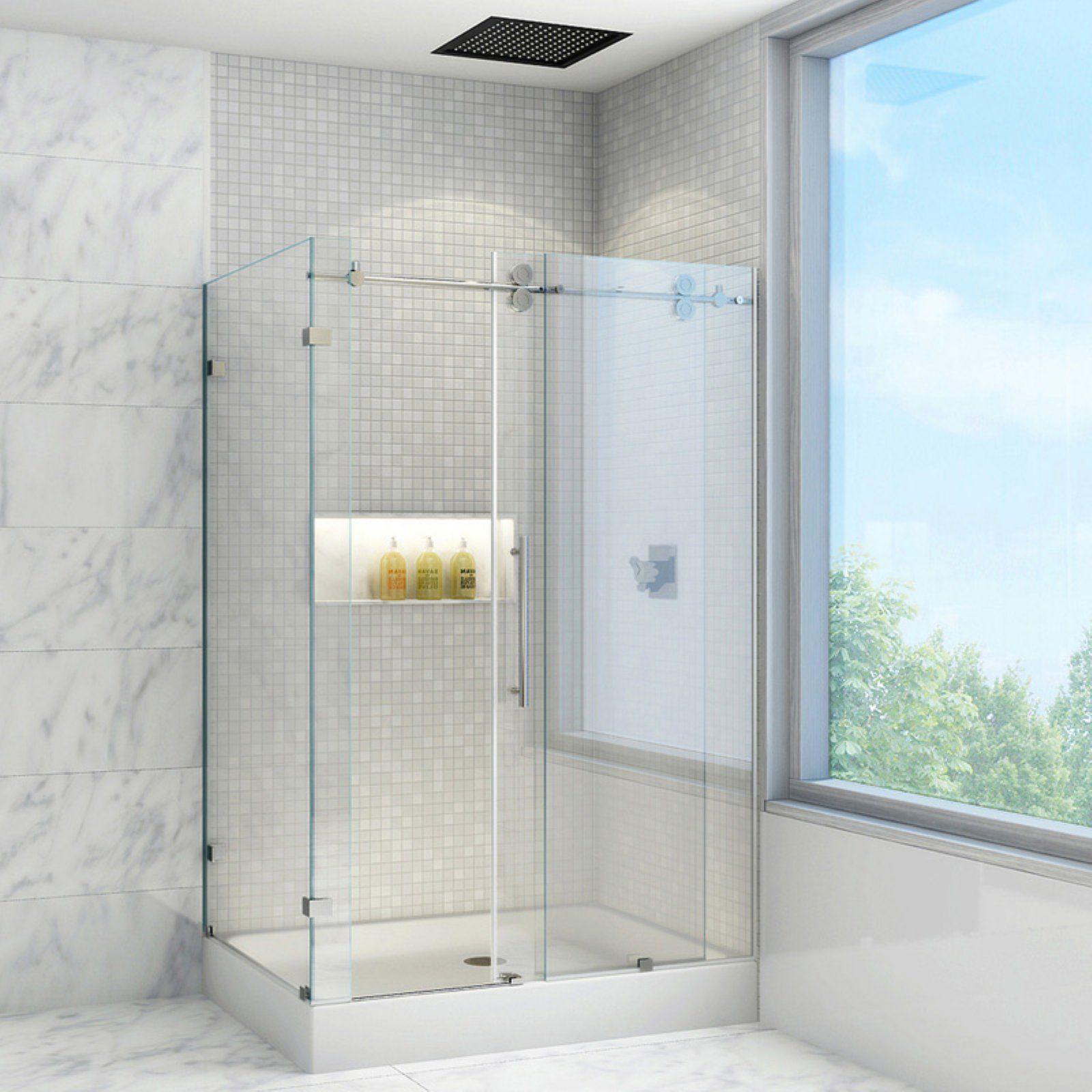 Vigo Vg605148w 38 125w X 79 875h In Clear Glass Shower Enclosure