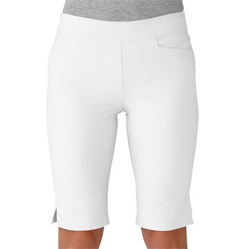 White Adidas Ladies Adistar Bermuda Pull-On Golf Shorts available ...