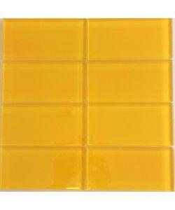 Cute 3X6 Subway Tile Backsplash Thick 4 Inch White Ceramic Tiles Regular 4 X 8 Ceramic Tile 6 X 12 Floor Tile Old Acoustical Tiles Ceiling GreenAdhesive For Ceiling Tiles Lush 3x6 Saffron   Yellow Glass Subway Tile | COLOR ME...Yellow ..