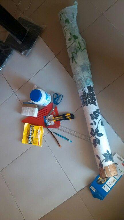 Kits Scissors Ruler Knive Top Bond Adhesive For Edges Wallpaper Gum Wallpaper Brushes How To Hang Wallpaper Creative Wallpaper