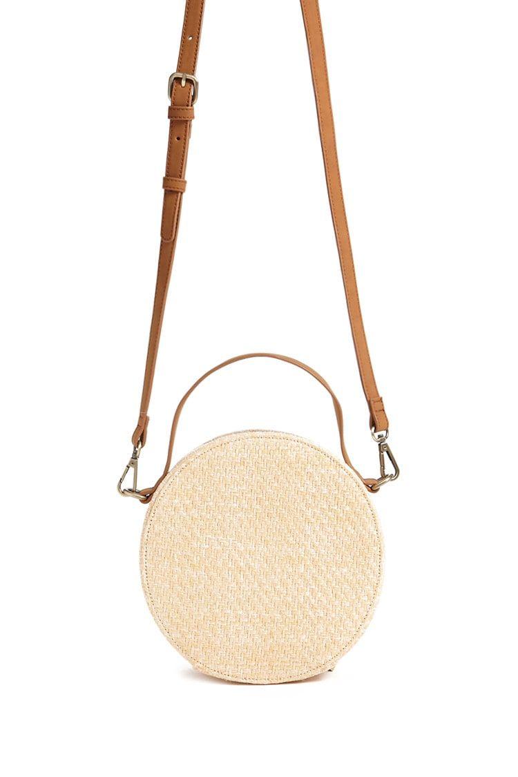 Round Straw Crossbody Bag Forever 21