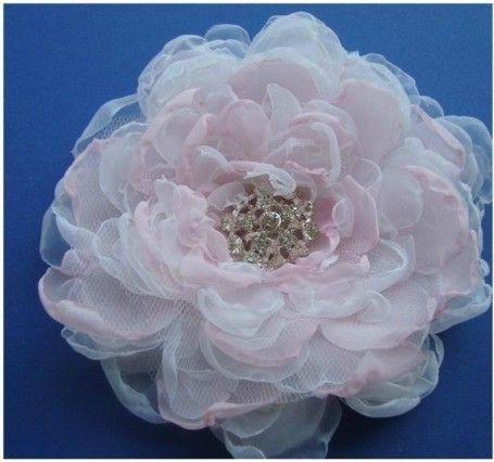 Kwiaty We Wlosach Fabric Flower Tutorial Flower Tutorial Fabric Flowers