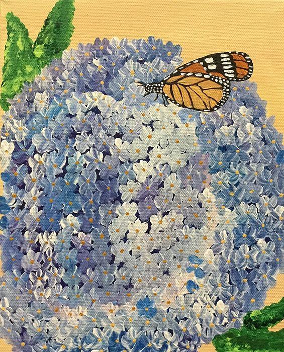 Beautiful monarch butterfly artwork.