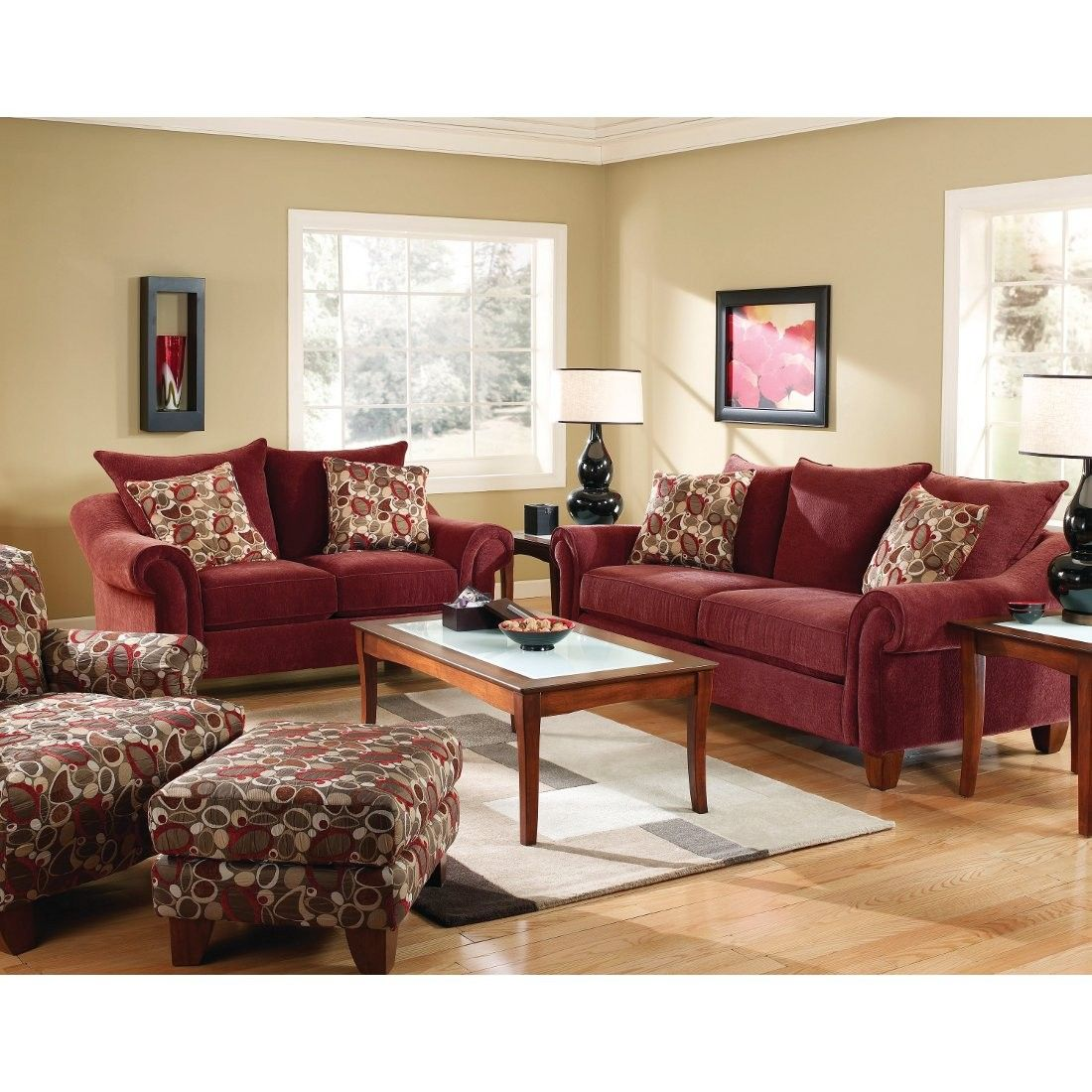 Corinthian Cebu Sofa | Wine (2833S) | Conn\'s Home Plus - $699.00 ...