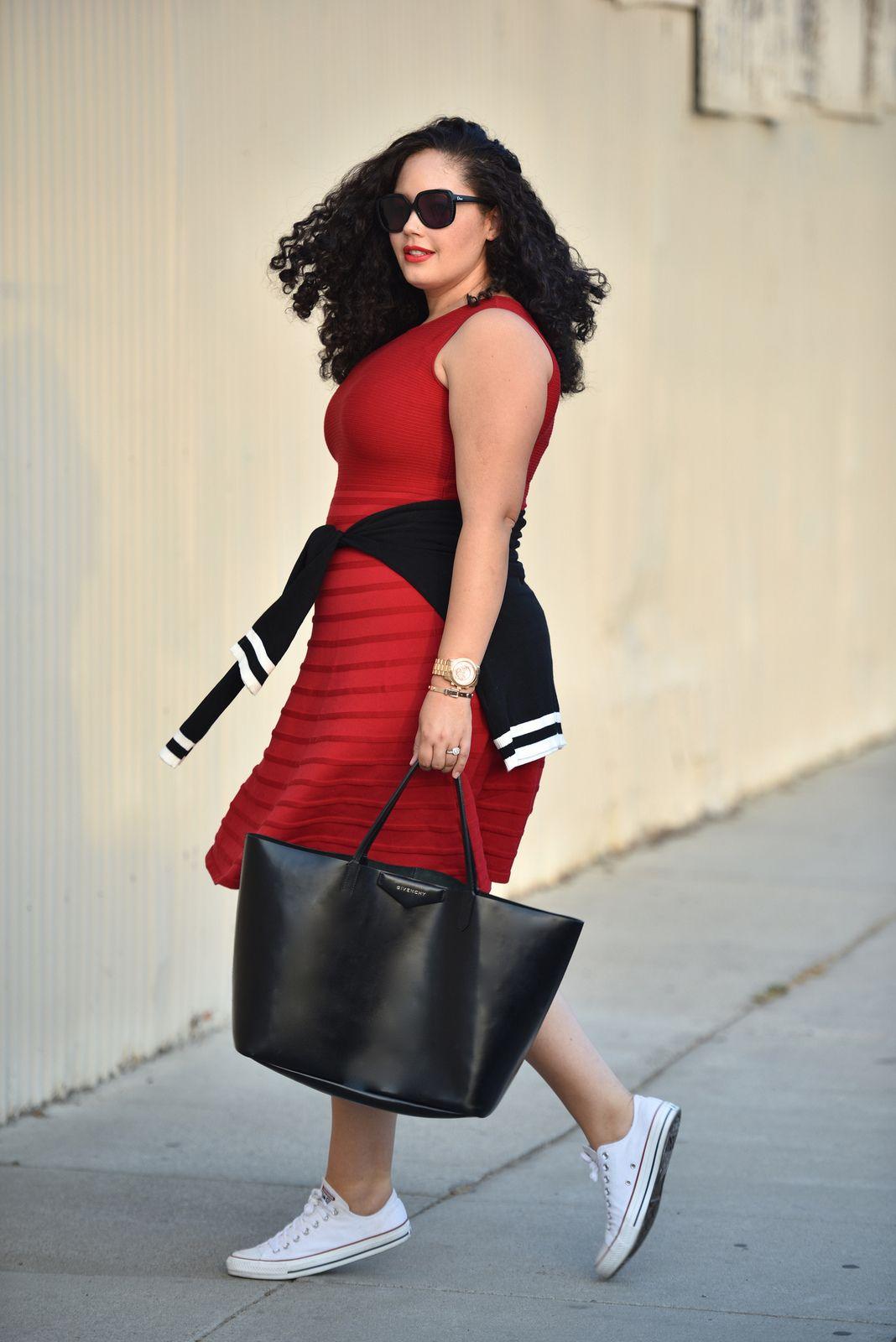 108e9e9392ee5 Plus Size Fashion - Dress and Converse