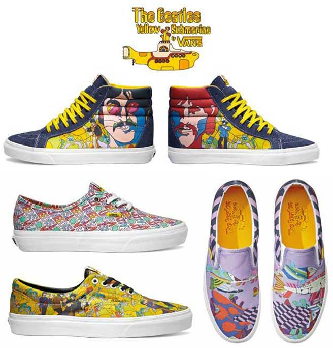 Vans Collaborates With The Beatles' 'Yellow Submarine' on