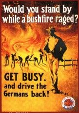 Help Put Out The Bushfire Library Posters Ww1 Posters War