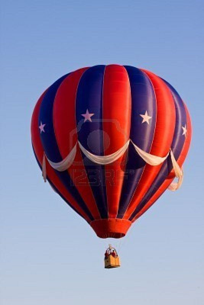 A Colorful Red White And Blue Patriotic Usa Hot Air Balloon Air Balloon Hot Air Balloon Hot Air Balloon Festival