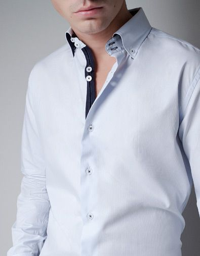 29dd0e0c0d724 STRUCTURED SHIRT WITH CONTRASTING COLOURS - Shirts - Man - ZARA United  States. BUTTON DOWN ...
